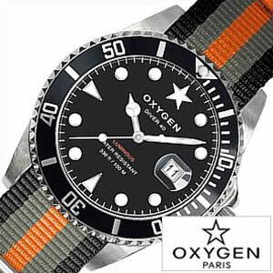 オキシゲン腕時計 OXYGEN時計 OXYGEN 腕時計 オキシゲン 時計 ダイバー アムステルダム Diver Amsterdam 40 メンズ ブラック ホワイト AMS-40-BLGROR アナログ おしゃれ シルバー グレー オレンジ ダイバー デザイン モデル 3針 送料無料