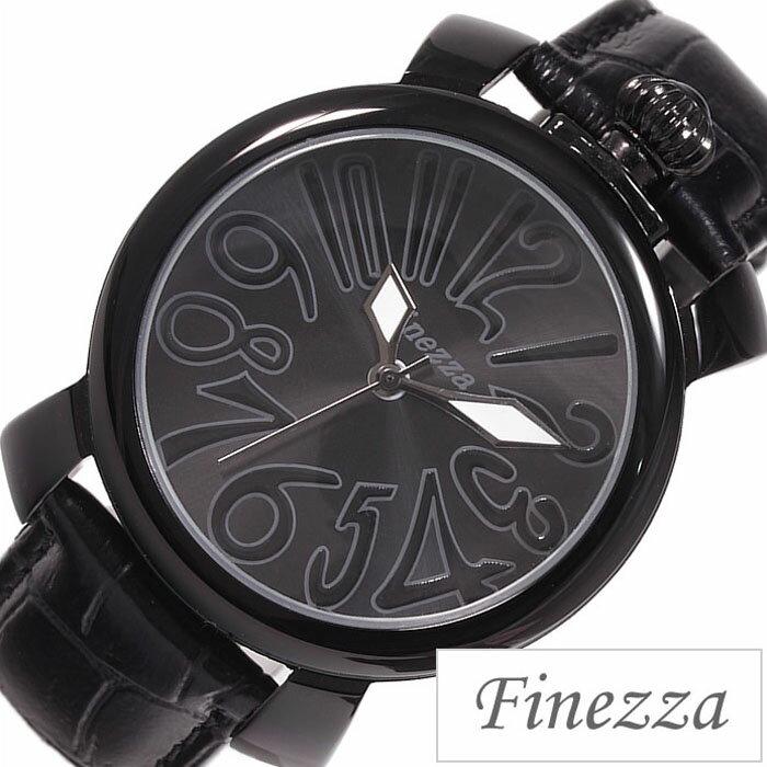腕時計 レディース かわいい プチプラ フィネッツァ腕時計 Finezza時計 Finezza 腕時計 フィネッツァ 時計 レディース ブラック FZ4011-BKBK 可愛い おしゃれ 革ベルト 革 ビッグケース 40MM レザー 大きめ 黒 ギフト 入学 卒業