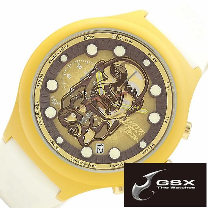 【正規品】 ジーエスエックス 腕時計 GSX 時計 インディ ジョーンズ ( INDIANA JONES ) メンズ レディース ブラウン ゴールド [ チャチャポヤン戦士像 コラボモデル Chachapoya-idol 数量限定モデル 純国産 日本製 ゴールド ]