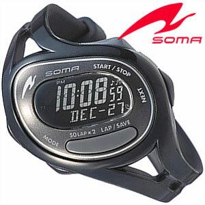 【正規品】 ソーマ 腕時計 SOMA 時計 ラン ワン Run ONE メンズ レディース ブラック DWJ23-0001 [ ランニング トレーニング シンプル スポーツウォッチ 防水 ]