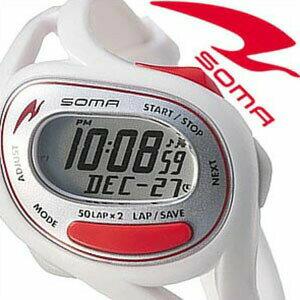 【正規品】 ソーマ 腕時計 SOMA 時計 ラン ワン Run ONE メンズ レディース シルバー×レッド DWJ23-0003 [ ランニング トレーニング シンプル スポーツウォッチ 防水 ]