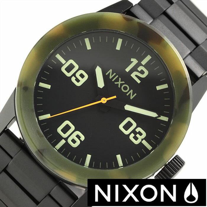 ニクソン 腕時計 NIXON 時計 プライベート PRIVATE SS メンズ ブラック A276-1428 [ マットブラック カモフラージュ カーモ 迷彩 黒 3針 人気 スポーツ ブランド サーフィン 防水 ]