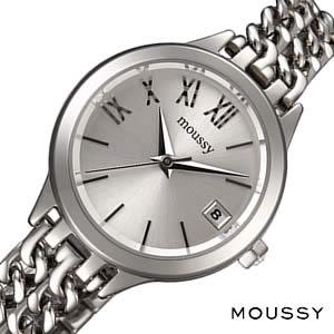 【5年保証対象】マウジー 時計 MOUSSY 時計 マウジー 腕時計 MOUSSY 腕時計 ダブル チェイン Double Chain レディース シルバー WM00111A アナログ メタルバンド オールシルバー 通販 人気 プレゼント ギフト 送料無料