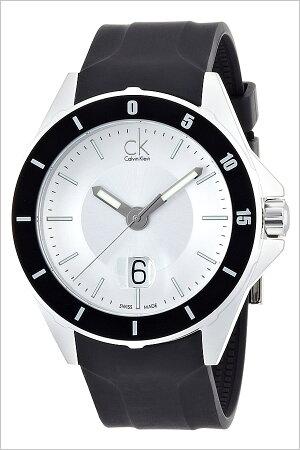 [送料無料]カルバンクライン腕時計[CalvinKlein時計](CalvinKlein腕時計カルバンクライン時計)プレイ(Play)メンズ腕時計/シルバー/K2W21XD6[ラバーベルト/生活防水/ブラック/ホワイト/ck/シーケー/ビジネス/スイス製]