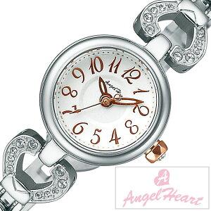 [送料無料]エンジェルハート腕時計[AngelHeart時計](AngelHeart腕時計エンジェルハート時計)ピンキーハート(PinkyHeart)レディース腕時計/シルバー/PH19SWSV[アナログ/クリスタル/ストーン/ローズ/ピンクゴールド/ホワイト/ハート/ブレスウォッチ]