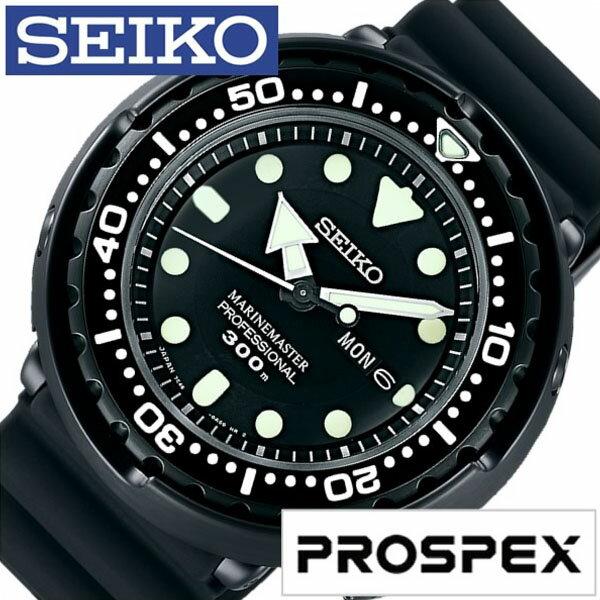 【正規品】 セイコー 腕時計 SEIKO 時計 プロスペックス PROSPEX マリンマスター PROSPEX MARINE MASTER メンズ ブラック SBBN035 [ ダイバーズ ウォッチ 300m ダイバー 防水 シリコン オールブラック 7C46 ]
