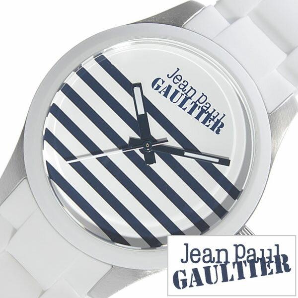 ジャンポールゴルチェ 腕時計 Jean Paul GAULTIER 時計 メンズ レディース JPG-8501120 [ ラバー ベルト シルバー ネイビー 縞 模様 ゴルチエ ゴルティエ モード ロック 個性的 ユニーク ]