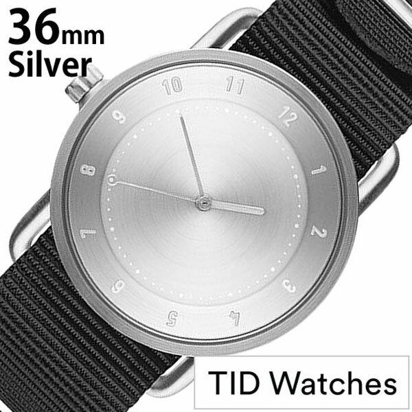 【正規品】 ティッドウォッチズ 腕時計 TID Watches 時計 レディース メンズ TID02-SV36-NBK [ NATO ベルト おしゃれ 替え 北欧 アナログ ナトー ブラック シルバー ]