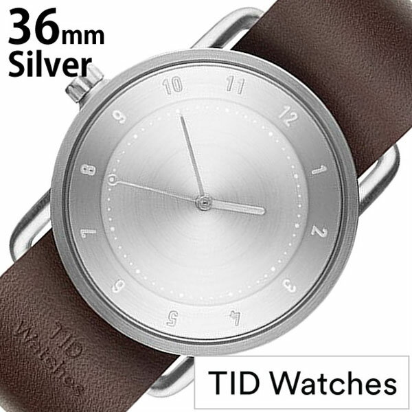【正規品】 ティッドウォッチズ 腕時計 TID Watches 時計 レディース シルバー TID02-SV36-W [ 革 ベルト おしゃれ 替え 北欧 アナログ ダーク ブラウン シルバー ]