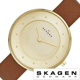スカーゲン SKAGEN 腕時計 スカーゲン 時計 SKAGEN 時計 スカーゲン 腕時計 ギッテ Gitte メンズ レディース ゴールド SKW2138 人気 新作 流行 ブランド 防水 革 ベルト レザー シンプル 薄型 北欧 ブラウン ギフト 入学 卒業 祝い