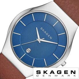 スカーゲン SKAGEN 腕時計 スカーゲン 時計 SKAGEN 時計 スカーゲン 腕時計 グレーネン Grenen メンズ レディース ブルー SKW6160 人気 新作 流行 ブランド 防水 革 ベルト レザー シンプル 北欧 薄型 ブラウン シルバs−