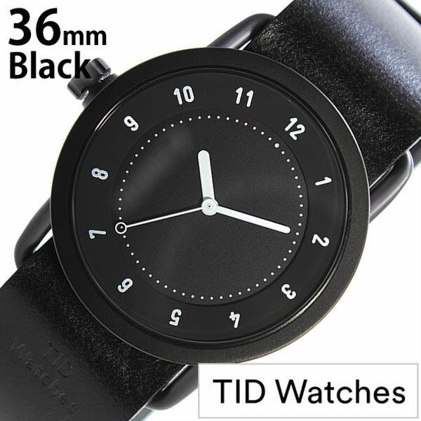 【正規品】 ティッドウォッチズ 腕時計 TID Watches 時計 レディース ブラック TID01-BK36-BK [ 革 ベルト おしゃれ インスタ モデル 北欧 ペア ホワイト ]