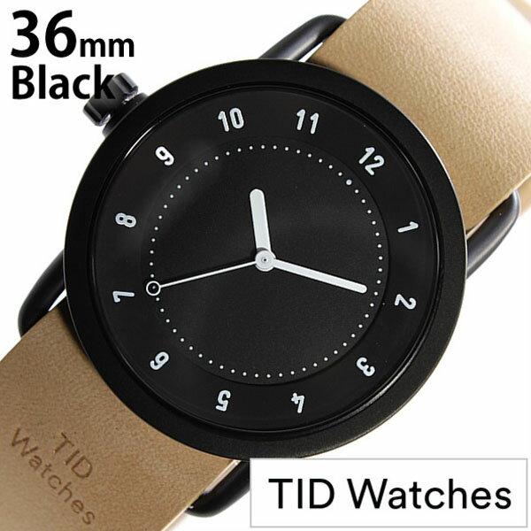 【正規品】 ティッドウォッチズ 腕時計 TID Watches 時計 レディース ブラック TID01-BK36-N [ 革 ベルト おしゃれ インスタ モデル 北欧 ペア ベージュ ブラウン ホワイト ]