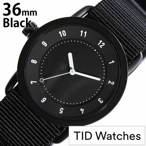 【正規品】 ティッドウォッチズ 腕時計 TID Watches 時計 レディース ブラック TID01-BK36-NBK [ NATO ベルト おしゃれ インスタ モデル 北欧 ペア ホワイト ナトー ]