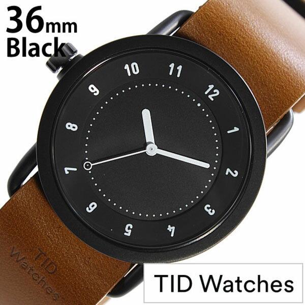 【正規品】 ティッドウォッチズ 腕時計 TID Watches 時計 レディース ブラック TID01-BK36-T [ 革 ベルト おしゃれ インスタ モデル 北欧 ペア ブラウン ホワイト ]