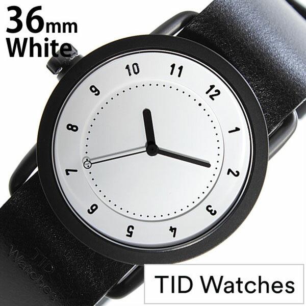 【正規品】 ティッドウォッチズ 腕時計 TID Watches 時計 レディース ホワイト TID01-WH36-BK [ 革 ベルト おしゃれ インスタ モデル 北欧 ペア ブラック ]