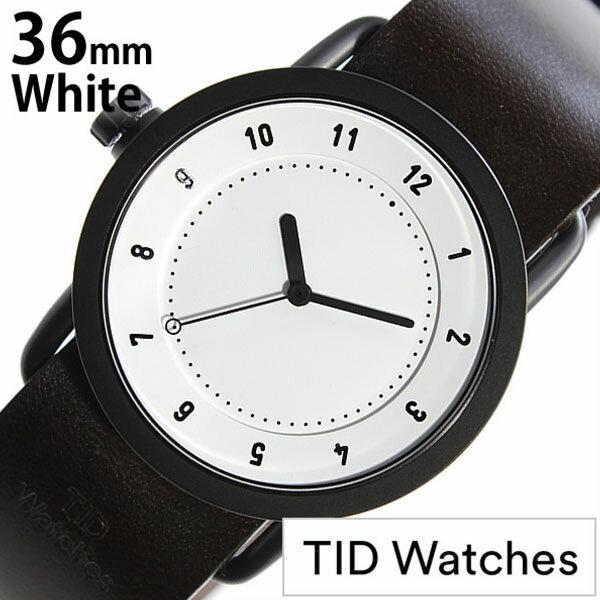 【正規品】 ティッドウォッチズ 腕時計 TID Watches 時計 レディース ホワイト TID01-WH36-W [ 革 ベルト おしゃれ インスタ モデル 北欧 ペア ダーク ブラウン ブラック ]