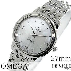 オメガ 腕時計 OMEGA 時計 オメガ時計 OMEGA腕時計 デビル プレステージ De Ville Prestige レディース ホワイト 424.10.27.60.05.001 メタル ベルト ブランド 新品 プレゼント ギフト スイス 白蝶貝 ホワイトシェル シルバー 送料無料
