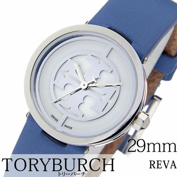 トリーバーチ 腕時計 TORYBURCH 時計 ( REVA ) レディース ホワイト TRB4006 [ 革 ベルト ブルー シルバー ベージュ ブレスレット アクセサリー デザイン ]