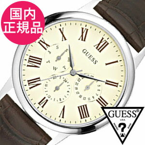 【5年保証対象】ゲス 腕時計 GUESS 腕時計 ゲス 時計 GUESS 時計 ゲス腕時計 GUESS腕時計 ゲス時計 GUESS時計 ウェハー WAFER メンズ W70016G2 ブランド 人気 新作 白 茶 ブラウン カジュアル クロコ調 プレゼント ギフト 送料無料