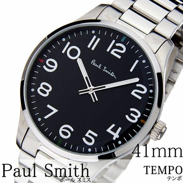 【おひとり様1点限り!!】ポールスミス 時計 paul smith 腕時計 ポール スミス 腕時計 paul smith 時計 テンポ TEMPO  メンズ ブラック P10064 新作 メタル ベルト トレンド ブランド 人気 ギフト プレゼント シルバー ビジネス シンプル