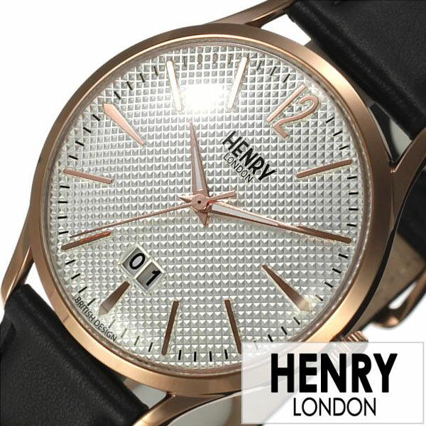 ヘンリーロンドン 腕時計 HENRYLONDON 時計 ヘンリー ロンドン 時計 HENRY LONDON 腕時計 リッチモンド RICHMOND メンズ レディース ホワイト HL41-JS-0038 [ 新作 ブランド イギリス 防水 シンプル 革 レザー ベルト ブラック ピンクゴールド 腕時計 レディース ]