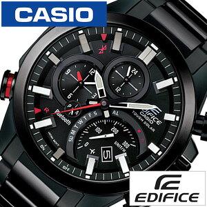 【5年延長保証】カシオ腕時計[CASIO時計]エディフィス[EDIFICE]メンズブラックEQB-501DC-1AJF[正規品防水タフソーラーメタルシルバーモバイルリンク]