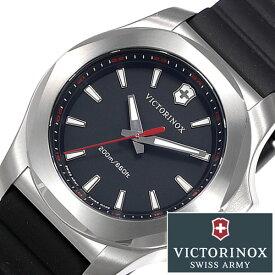 ビクトリノックス 腕時計 VICTORINOX 時計 ビクトリノックス スイスアーミー 時計 VICTORINOX SWISSARMY イノックス ブイ INOX V レディース ブラック 241768 ブランド 防水 バンパー ラバー プレゼント ギフト 送料無料