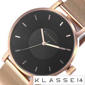クラス14 腕時計 KLASSE14 時計 クラス フォーティーン KLASSE 14 ダークローズ DARKROSE メンズ ブラック VO16RG006M [ 42mm ブランド ペアウオッチ ユニセックス メタル メッシュ ローズゴールド ピンクゴールド ]