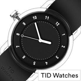[当日出荷] 【5年保証対象】ティッドウォッチズ 腕時計 TIDwatches 時計 ティッド ウォッチズ 時計 TID watches 腕時計 ナンバースリー NO3 メンズ レディース ブラック TID03-38BK 人気 クリア ラバー ティッドウォッチシンプル オールブラック おしゃれ カスタム