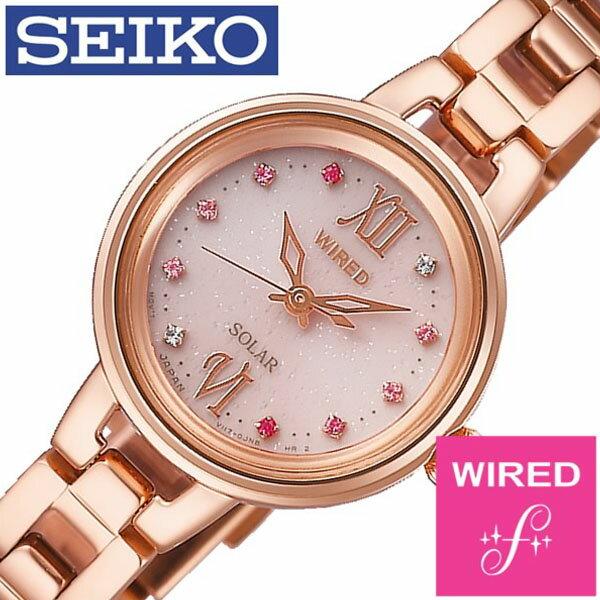 【5年保証対象】セイコー 腕時計 SEIKO 時計 セイコー 時計 SEIKO 腕時計 ワイアード エフ WIRED f レディース ピンク AGED093 正規品 人気 ブランド プレゼント ギフト ビジネス メタル ソーラー かわいい ピンクゴールド 防水 送料無料
