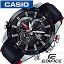 【ウルトラセール 12/15〜25 13:59】【正規品】 カシオ 腕時計 CASIO 時計 エディフィス EDIFICE レース ラップ クロノ グラフ メンズ ブラック EQB-800BL-1AJ