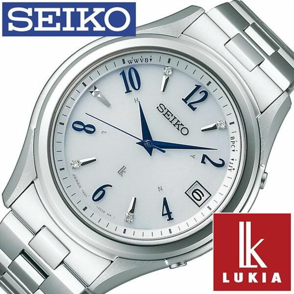 【5年保証対象】セイコー 腕時計 SEIKO 時計 セイコー 時計 SEIKO 腕時計 ルキア LUKIA メンズ ホワイト SSVH017 正規品 人気 ブランド ギフト ビジネス メタル シルバー ソーラー 電波 ペアウォッチ シンプル ダイヤ 防水 限定 送料無料