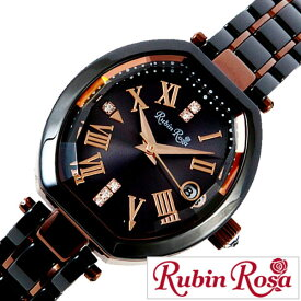 [当日出荷] 【延長保証対象】ルビンローザ 腕時計 RubinRosa 時計 ルビン ローザ 時計 Rubin Rosa 腕時計 レディース ブラック R308BRBK [ ブランド 人気 上品 かわいい おしゃれ アクセサリー ストーン ビジネス トノー型 シンプル ソーラー プレゼント ギフト 新生活 ]