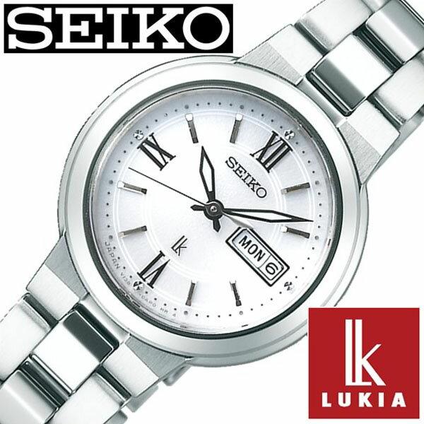 [1/26発売]【正規品】 セイコー 腕時計 SEIKO 時計 ルキア ( LUKIA ) レディース ホワイト SSVN029 [ 人気 ベーシック デザイン おしゃれ ビジカジ カレンダー シルバー ソーラー プレゼント ]