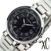 シチズン腕時計[CITIZEN時計](CITIZEN腕時計シチズン時計)クロスシーハッピーフライト(xCHAPPYFLIGHT)レディース腕時計/シルバーブラックホワイト/EC1010-57F[おしゃれエコドライブ電波時計ソーラー送料無料]