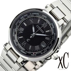 【延長保証対象】シチズン 腕時計 [ citizen 時計 ] クロスシー [ xC ] ハッピー フライト xC レディース ブラック EC1010-57F [ エコドライブ ソーラー電波時計 ] [ プレゼント ギフト 新生活 ]