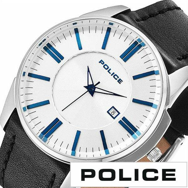 【延長保証対象】ポリス 腕時計 POLICE 時計 POLICE 腕時計 ポリス 時計 ガバナー GOVERNOR メンズ腕時計 ホワイト 14384JS-04 [ ブランド 防水 ブラック レザー 革 スーツ ビジネス カジュアル おしゃれ シンプル デザインウォッチ 男らしい デイト 男性 ]