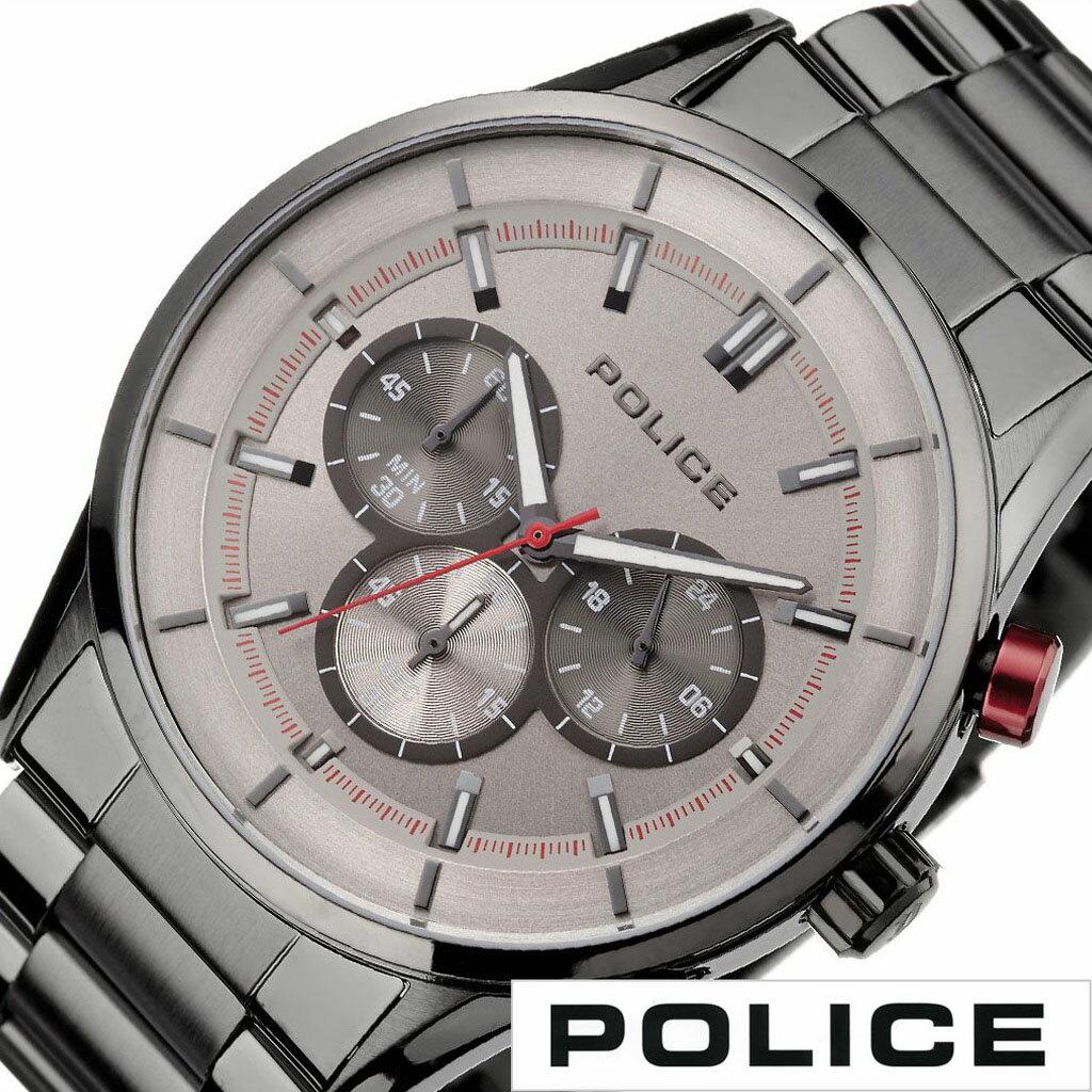 【延長保証対象】ポリス 腕時計 POLICE 時計 POLICE 腕時計 ポリス 時計 ラッシュ RUSH メンズ腕時計 グレー 15001JSU-13M [ ブランド 人気 防水 ステンレス スーツ ビジネス カジュアル おしゃれ 男らしい クロノグラフ 男性 プレゼント ギフト ]