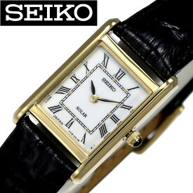 [当日出荷] セイコー 腕時計 SEIKO 時計 SEIKO 腕時計 セイコー 時計 レディース腕時計 ホワイト SEIKOW-SUP250 [ 海外 限定 ブランド シンプル 上品 かわいい 軽い 防水 フォーマル ソーラー ブラック レザー 革 SOLAWAT ] [ プレゼント ギフト 新生活 ]