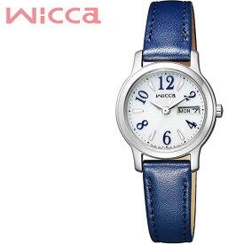 【延長保証対象】シチズン 腕時計 CITIZEN 時計 ウィッカ wicca レディース シルバー KH3-410-10 [ アナログ カレンダー 革 プレゼント ギフト シンプル 人気 おしゃれ ラウンド かわいい ビジネス ファッション カジュアル ]