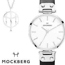 モックバーグ 腕時計 MOCKBERG 時計 MOCKBERG腕時計 モックバーグ腕時計 オリジナル Originals レディース ホワイト MO1002SET-N [ レディース腕時計 腕時計レディース 恋 ブランド おしゃれ 革ベルト レザー かわいい セット ネックレス ペンダント ブラック シルバー ]