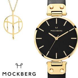 モックバーグ 腕時計 MOCKBERG 時計 MOCKBERG腕時計 モックバーグ腕時計 オリジナル Originals レディース ブラック MO113SET-N [ レディース腕時計 腕時計レディース 恋 ブランド おしゃれ ステンレス 革ベルト レザー かわいい セット ネックレス ペンダント ゴールド ]