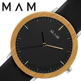 748b275384 マム ウッドウォッチ 木製 時計 MAM 腕時計 フェラ FERRA ユニセックス メンズ レディース ブラック MAM629 人気 ブランド 革  レザー ベルト おしゃれ シンプル 大人 ...
