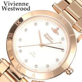 ヴィヴィアンウエストウッド 腕時計 VivienneWestwood 時計 レディース 腕時計 ホワイト VV206SLRS [ 人気 防水 女性 向け ブランド おすすめ ファッション カジュアル ビビアン ステンレス 妻 嫁 彼女 旦那 夫 プレゼント ギフト メタル ピンク ローズ ゴールド ]