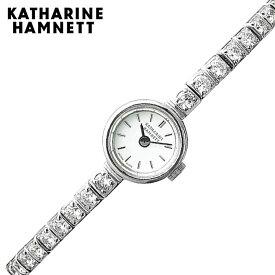 キャサリンハムネット 腕時計 KATHARINEHAMNETT 時計 レクタングル RECRANGLE レディース ホワイト KH7013-B04D [ 人気 ブランド おしゃれ ファッション カジュアル かわいい クリスタル ストーン ブレスレット アクセサリー プレゼント ギフト ]