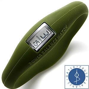 ランニングウォッチ パワーバランスウォッチ 腕時計 Power Balance 時計 シリコンウォッチ メンズ レディース PBW01-04-KH ランニング ジョギング マラソン 陸上 スポーツウォッチ スポーツ ダイエ