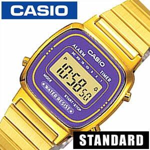 カシオ 腕時計 CASIO 時計 スクエア スタイル デジタル ウォッチ ( DIGITAL ) レディース LA-670WGA-6 [ ゴールド 生活 防水 ]