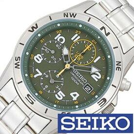 セイコー 腕時計 SEIKO 時計 クロノグラフ メンズ SND377P [ メンズ腕時計 腕時計メンズ サバゲ 米軍 特殊部隊 ミリタリー ブランド カジュアル 防水 夜光 ステン メタル カーキ 逆輸入 海外 ]