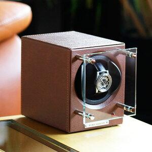 [高級腕時計専用]時計ワインダーワインディング腕時計自動巻き上げ機1本用ワインディングマシーン腕時計メンズレディース[機械式自動巻き自動巻き機オートマアナログ収納時計収納ケースウォッチワインダーマブチモーターインテリア]